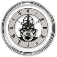 Skeleton Clock Insert Movement Silver 150mm