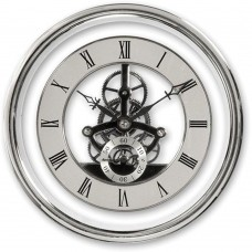 150mm Skeleton Clock Movement Silver