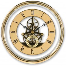 155mm Skeleton Clock Movement Gold