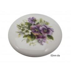 Ceramic Pansy Lids