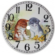 Ceramic Clock  Kittens Face