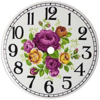 Ceramic Clock Village Rose