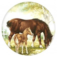 Ceramic Tile Horse and Foal [A]