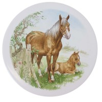 Ceramic Tile Horse and Foal [B]