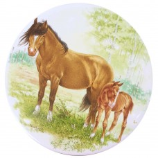 Ceramic Tile Horse and Foal [C]