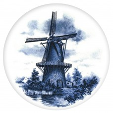 Ceramic Tile Blue Wind Mill