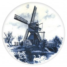 Ceramic Tile Blue Windmill [B]