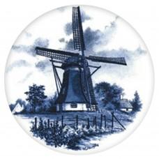 Ceramic Tile Blue Windmill [C]