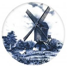 Ceramic Tile Blue Windmill [D]