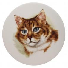 Ceramic Tile Cats Head 'D'
