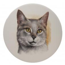 Ceramic Tile Cats head 'F'