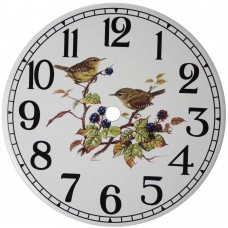 Ceramic Clock Wren Arabic Face