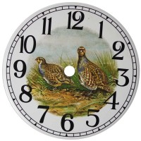 Ceramic Clock Partridge