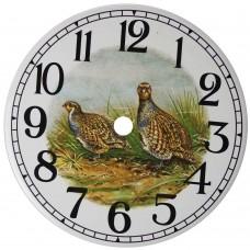Ceramic Clock Partridge