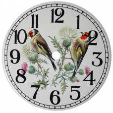 Ceramic Clock Gold Finch Arabic Face