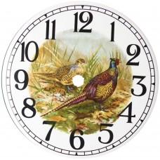 Ceramic Clock Pheasant