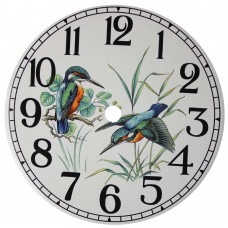 Ceramic Clock Kingfisher