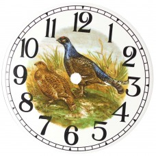 Ceramic Clock Grouse Arabic Face