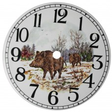 Ceramic Clock Tile Wild Boar