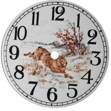 Ceramic Clock Tile Hare Arabic Face