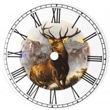 Ceramic Clock Tile Monarch of the Glen Roman Face