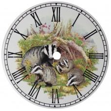 Ceramic Clock Tile Badgers