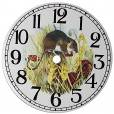 Ceramic Clock Field Mouse Face