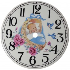Ceramic Clock Dreamland Blue Arabic Face