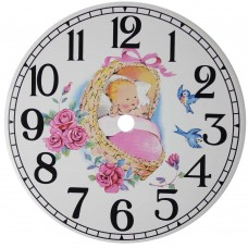 Ceramic Clock Dreamland Pink Arabic Face