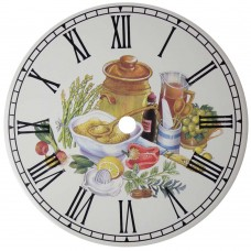 Ceramic Clock Kitchen Mustard Roman Face