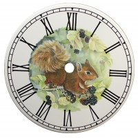 Ceramic Clock Tile Squirrel
