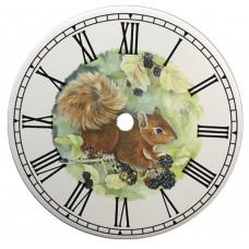 Ceramic Clock Tile Squirrel