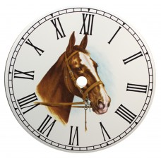 Ceramic Clock Horses Head