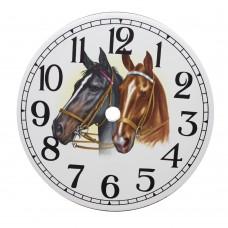 Ceramic Clock Tile Horses Head