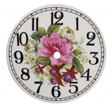 Ceramic Clock Tile Fuchsia