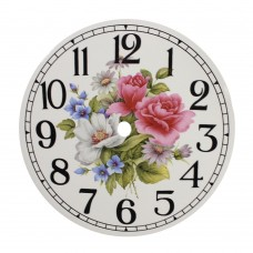 Ceramic Clock Tile Summer Spray