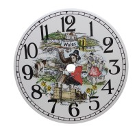 Ceramic Clock Tile Wales