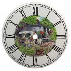 Ceramic Clock Morning Call