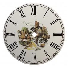 Ceramic Clock Tile Village