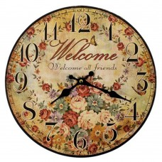 British Style Clock - Welcome All Friends