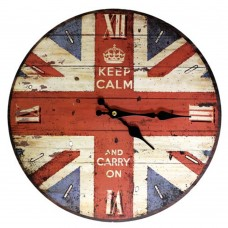 British Style Clock - Keep Calm