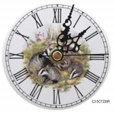 Ceramic Clock Kit Badger Roman Face