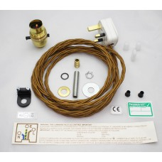 Brass Pushbar Lamp Kit