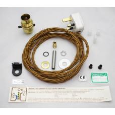 Brass Pushbar Lamp Kit
