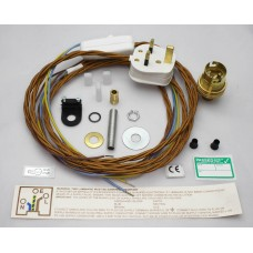 Brass Inline Lamp Kit